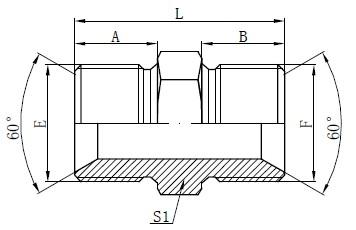 BSP ерлер адаптерінің фитингтері