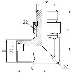 Локтя гидравликалық адаптерлер сызу