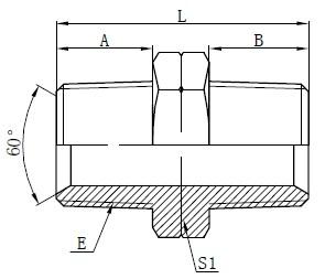 Гидравликалық NPT ерлер адаптерлері