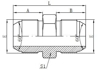 JIS метрикалық ерлер адаптерлері