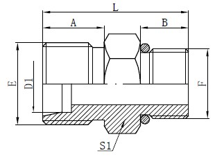 SAE O-ring шлангының коннекторлары
