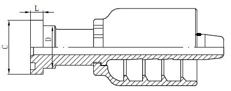SS құбыр коннекторының сызбасы