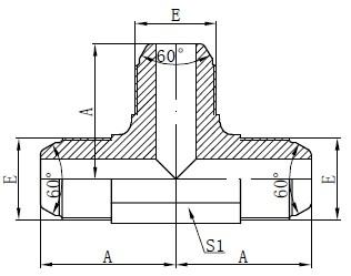 Жеңімпаз Стандарт AK Fitting Drawing